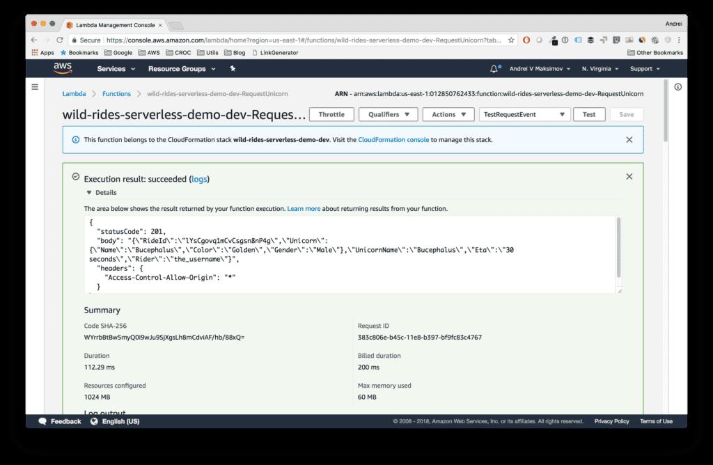 Serverless-Framework-Lambda-Function-Testing-Results