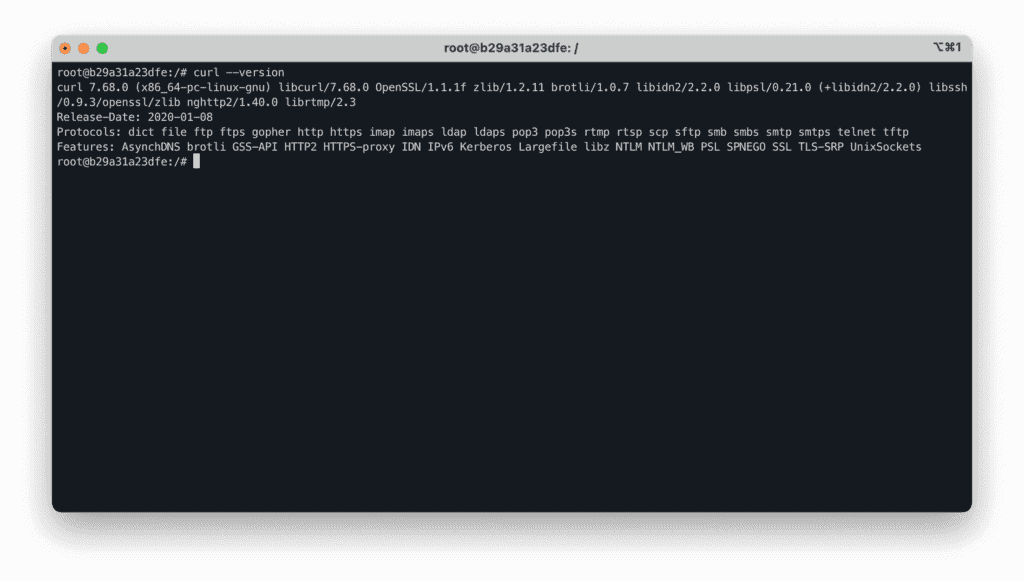 1. How to use CURL like a Pro in Linux - curl version