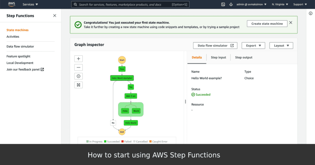 How to start using AWS Step Functions