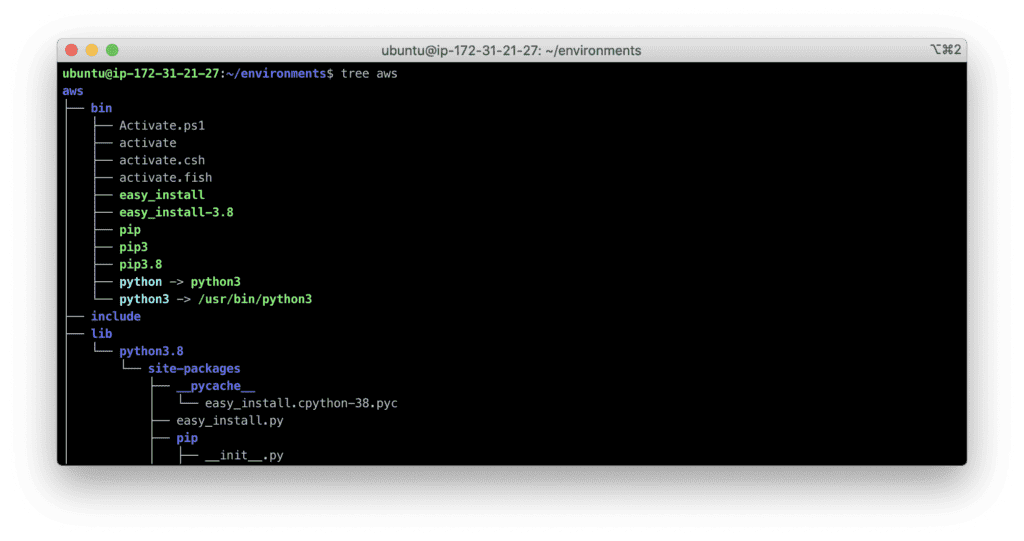 14. How to Install Python 3 development environment for Ubuntu Linux - virtual environment structure
