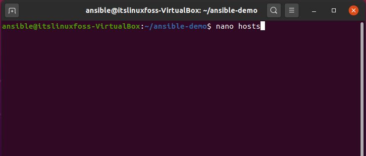 15. How To Install and Configure Ansible on Ubuntu - nano hosts