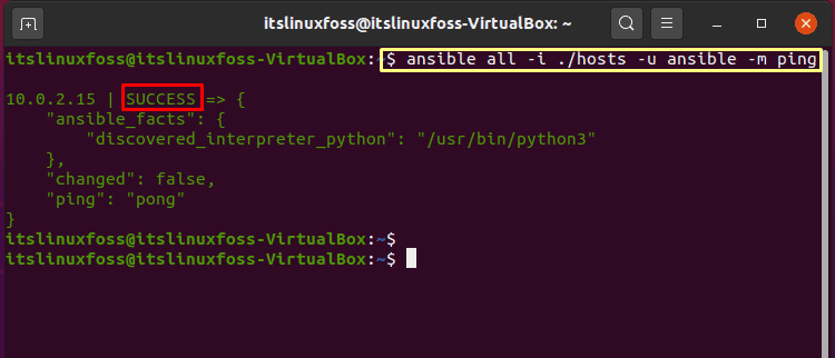 17. How To Install and Configure Ansible on Ubuntu - ansible ping