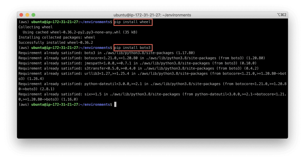 17. How to Install Python 3 development environment for Ubuntu Linux - wheel dependency issue fix
