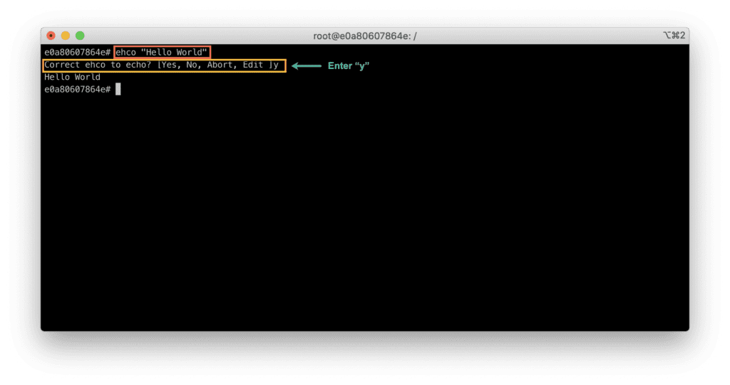 9. Which terminal is better - Bash VS Zsh - Bash typo example - Zsh - spelling auto correction