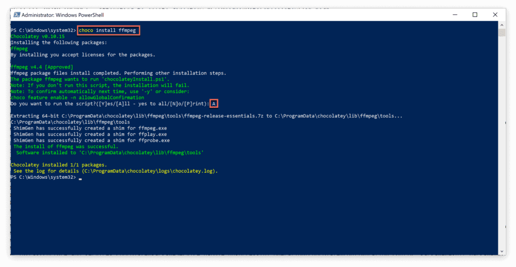 3. The most useful FFmpeg commands for audio and video conversion - Install FFMpeg - Windows