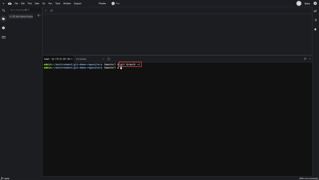 5. How to create, rename and delete Git branches - Viewing remote Git branches