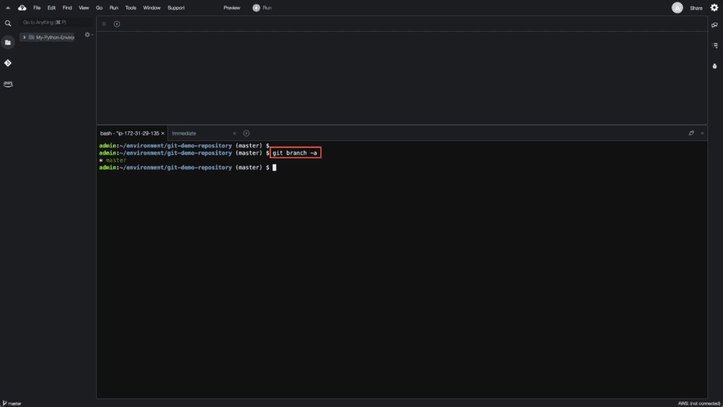 6. How to create, rename and delete Git branches - Viewing all Git branches
