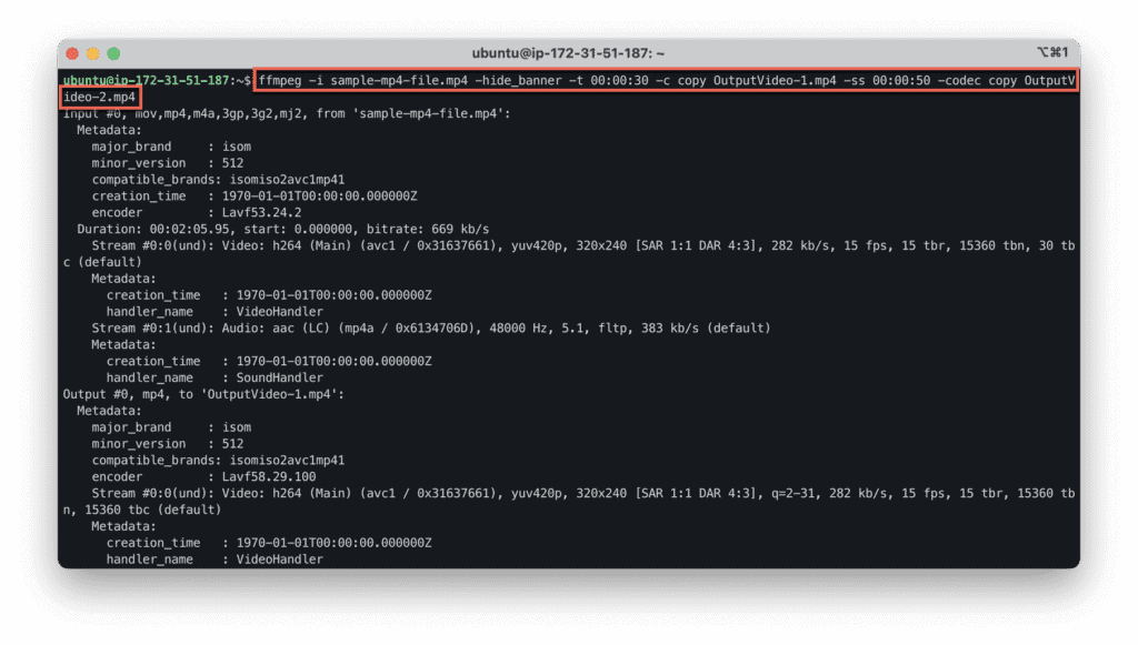 7. The most useful FFmpeg commands for audio and video conversion - Splitting a video into multiple parts