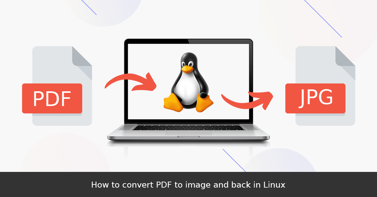 How to convert PDF to image and back in Linux