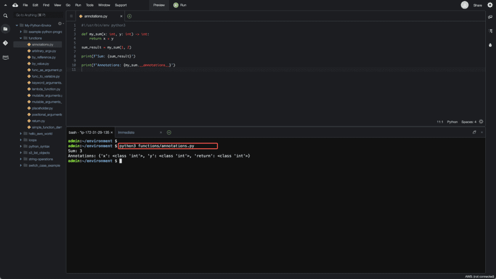 14. Functions in Python - Annotations
