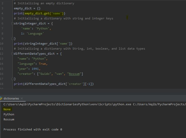 Working With Dictionaries In Python - Accessing with get() method