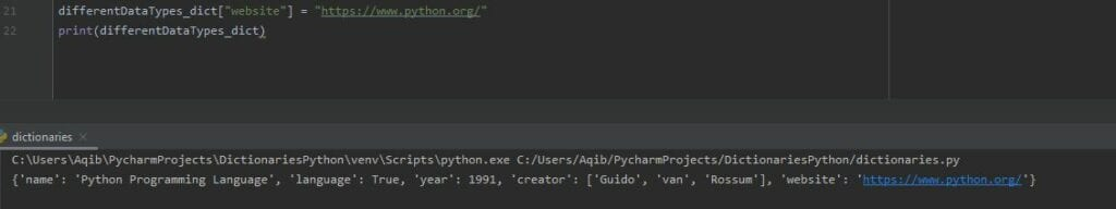 Working With Dictionaries In Python - Adding New Item