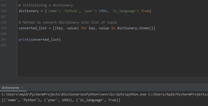 Working With Dictionaries In Python - Convert Dictionary To List Using List Comprehension