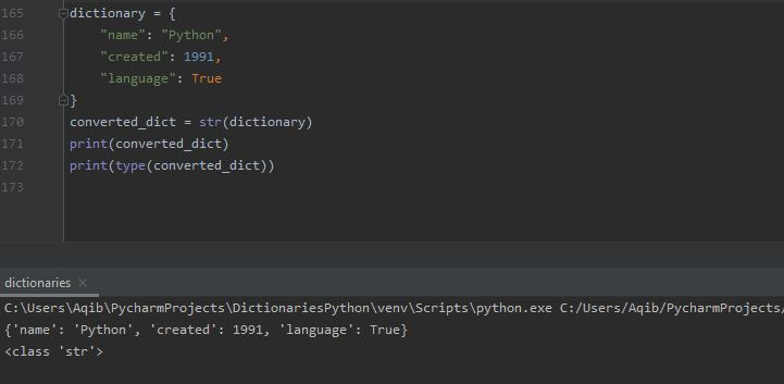 Working With Dictionaries In Python - Convert Dictionary To String