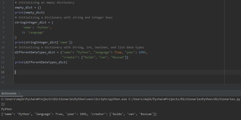 Working With Dictionaries In Python - Creating Dictionary