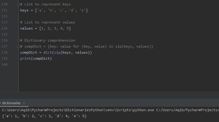 Working With Dictionaries In Python - Dictionary Comprehension Another Way