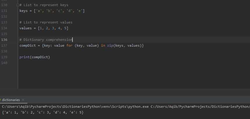 Working With Dictionaries In Python - Dictionary Comprehension