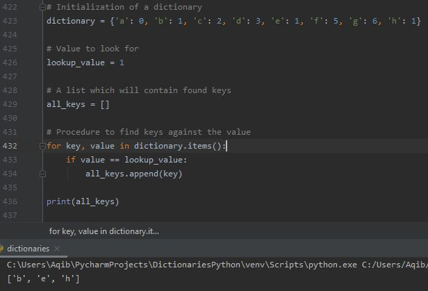 Working With Dictionaries In Python - Dictionary Reverse Lookup