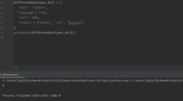 Working With Dictionaries In Python - Getting Length
