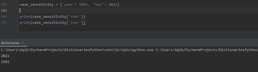 Working With Dictionaries In Python - Keys Case Sensitivity