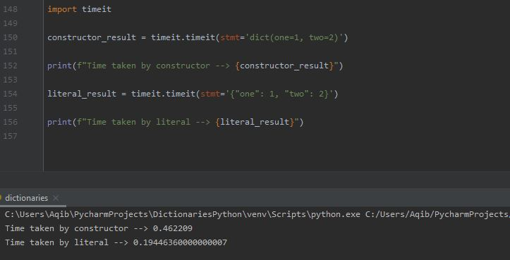 Working With Dictionaries In Python - Literal Vs Constructor