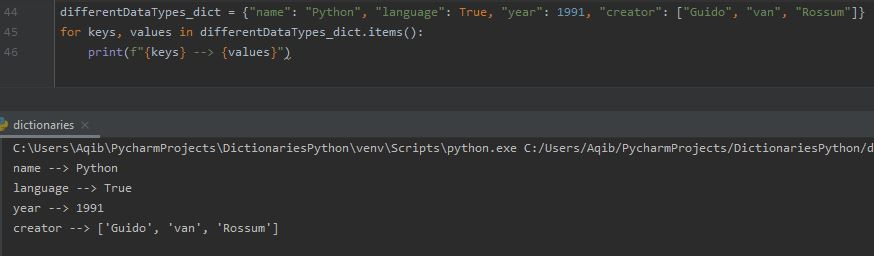 Working With Dictionaries In Python - Loop Through Keys & Values