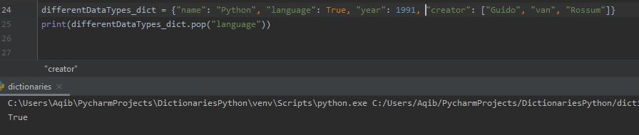 Working With Dictionaries In Python - Removing Specific Item