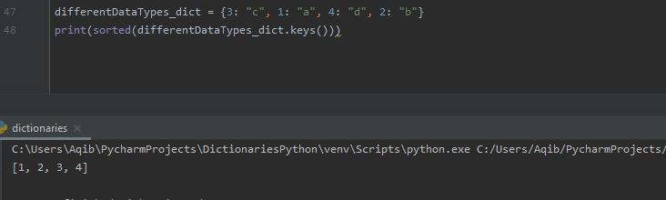 Working With Dictionaries In Python - Sorting By Key