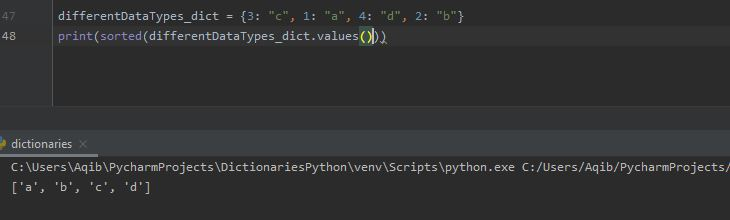 Working With Dictionaries In Python - Sorting By Values