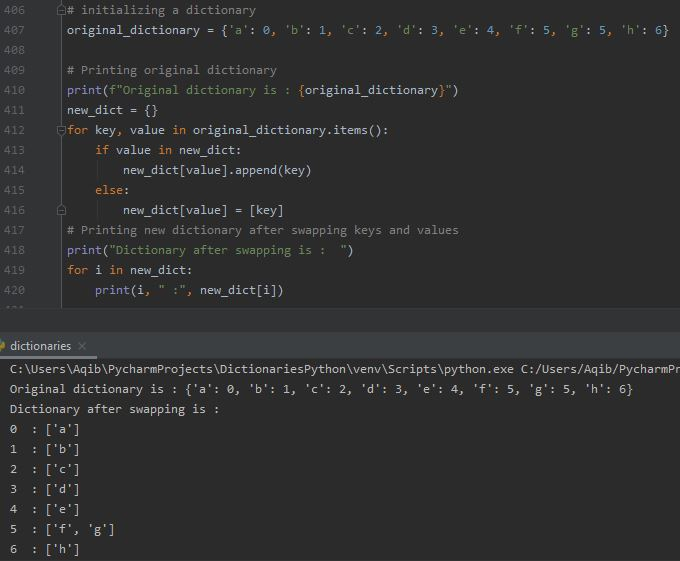 Working With Dictionaries In Python - Swap Dictionary Keys & Values