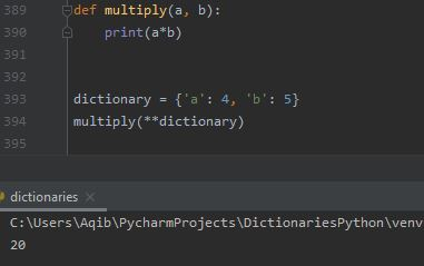 Working With Dictionaries In Python - Unpacking Dictionary