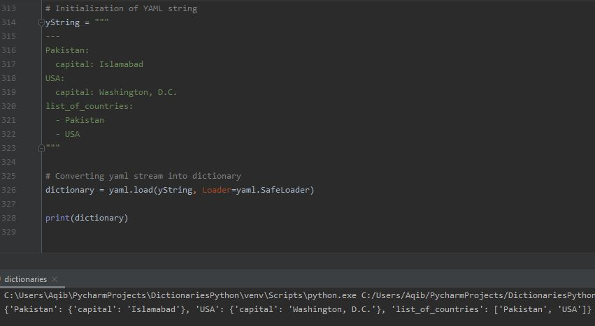 Working With Dictionaries In Python - YAML To Dictionary