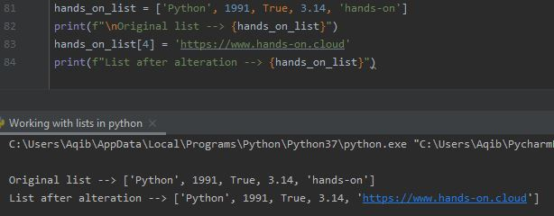 Working With Lists In Python - Change Specific Item Value