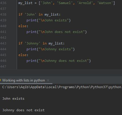 Working With Lists In Python - Find Item In A List