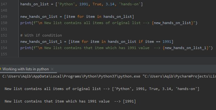 Working With Lists In Python - List Comprehension