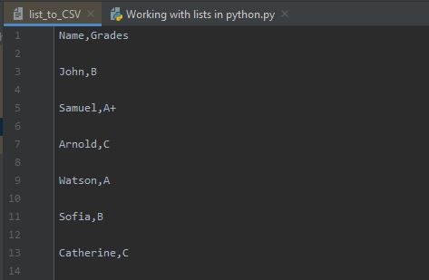 Working With Lists In Python - List To CSV