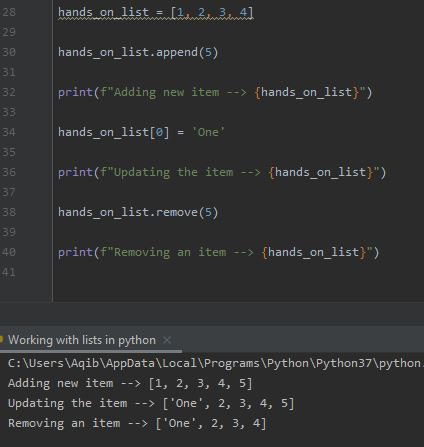 Working With Lists In Python - Lists Are Mutable