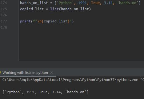 Working With Lists In Python - Using list() Method