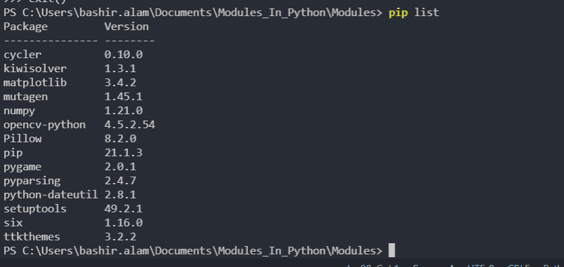 pip-list-to-display-packages.